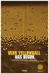 yellow ball poster