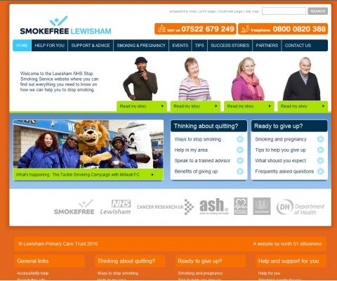 Smokefree Lewisham Website